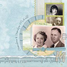 Grandma & Grandpa McKell ~ pretty 'through the years' layout.