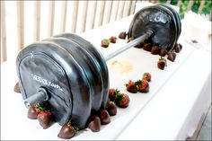 Barbell Groom's Cake - Photo by Jason