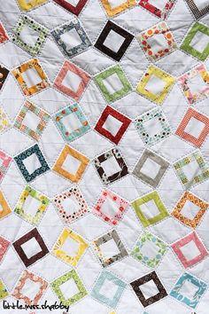 "link to free pattern (use 5"" framed squares for center) for flea market fancy"