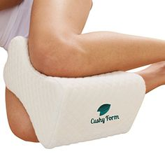 Sciatic Nerve Pain Relief Knee Pillow - Best for Hip, Leg, Knee, Back and Spine Alignment - Memory Foam Wedge Leg Pillow with Washable Cover + Free Storage Bag - Best Online Shopping Deals Today in USA Siatic Nerve, Nerve Pain, Sciatic Nerve Relief, Knee Pain Relief, Sciatica Pillow, Spine Alignment, Knee Pillow, Restless Leg Syndrome, Knee Injury