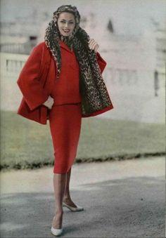 Jean Patou Red Suit, 1957.