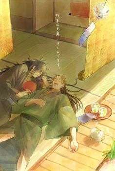 Hashirama and Madara taking a nap #hashirama #madara