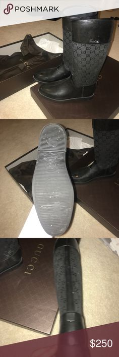 Gucci boots Gucci rain boots used in good condition scuffed a little COMES WITH BOX and dustbags authentic Gucci Shoes Winter & Rain Boots