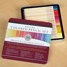 Deluxe Colored Pencils With Case - Set of 50   $17.00