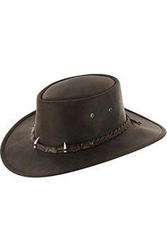 Hombre Sombreros - Sombrero de Piel Croc by sombrero outdoorsombrero de  piel (L 58 f22a7377faa