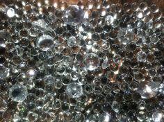 "Glass bead and ""diamond"" sensory bin"