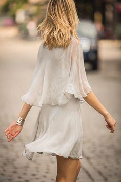 Silver Chiffon Dress