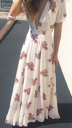 #summer #trendy #outfits |  Floral Maxi Dress