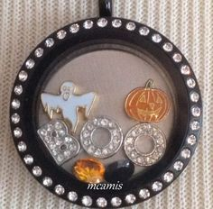 Ghost Pumpkin Boo Letter Halloween Living Locket Floating Charm Set   eBay for Origami Owl Living Locket (Charms Only)