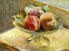 bofransson: Le Compotier de Peches. Edouard Vuillard (1868-1940)