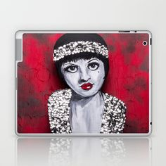 Flapper Laptop & iPad Skin by Portraits on the Periphery   - $25.00