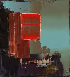 Peter Krauskopf - Landschaft mit abstraktem gemalde