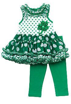 Rare Editions Shamrock Tutu Set Toddler Girls - Online Only