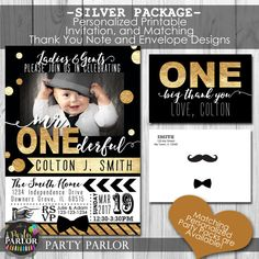 Mr. ONEderful Little Man first Birthday Party by JuliesPartyParlor