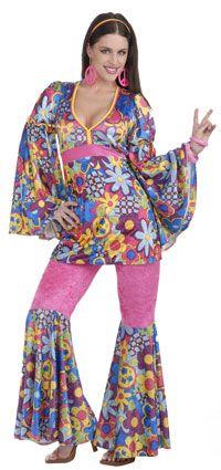 Hippie Flower Child Adult Costume - Hippie Costumes