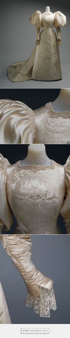 Wedding dress by House of Worth 1896 French   The Metropolitan Museum of Art