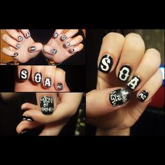sons of anarchy nails  nails nail jewelry nails