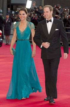 Kate Middleton in Lace Backless Jenny Packham Gown Pictures. Gorgeous dress, gorgeous woman.