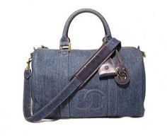 Chanel Denim Duffle Handbag Tote