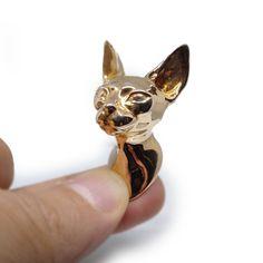 Décoration Murale | Chat Sphynx | Tête de Chat Sculpture | Bronze | Chat Sphynx, Sphynx Cat, Image 3d, Bronze, Looks Vintage, Decoration, Sculptures, Creations, Wall Decor