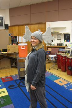 Seussical, Jr. Costumes-- my Horton costume, with trunk scarf