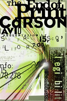 David Carson Impression Canvas Print / Canvas Art by Tom Layland Graphic Design Posters, Graphic Design Typography, Graphic Design Inspiration, Creative Typography, Collage Poster, David Carson Design, Vintage Poster, Grafik Design, Visual Communication