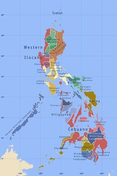 map of Philippines and languages