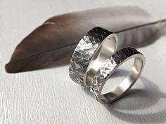 silver wedding rings unique wedding ring set square by CrazyAssJD