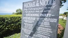 Michael and Nicole's chalk art program displayed at the entrance of their outdoor Wedding Ceremony overlooking the Long Island Sound at Lombardi's on the Sound at the Port Jefferson Country Club at Harbor Hills.  #lombardicaterers #lombardibride #bridesofinstagram #longislandwedding #weddingvenues #engaged #weddingvenue #happy #longisland #bridetobe #bridal #weddinginspo #bridesofinstagram #mrandmrs #soontobemrs #ido #justengaged #isaidyes #newyorkers #weddingcountdown #love#hprealweddings…