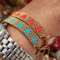 Loom Bracelet Patterns, Bead Loom Bracelets, Peyote Patterns, Heart Bracelet, Jewelry Patterns, Beading Patterns, Crochet Patterns, Diy Jewelry, Necklaces