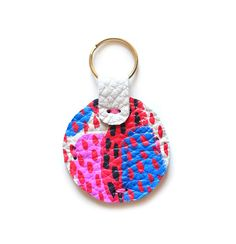 Boo & Boo Factory Painted Leather Keychain