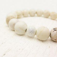 white magnasite bracelet