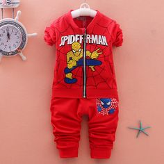 Aliexpress.com : Buy 2016 Spiderman Children Sweatshirt Clothing set Baby Spider man Sports Suits Sweatshirt+ pant Kids 2pcs Sets Clothes Tracksuits from Reliable set clothes suppliers on Children,MOM,DAD,FAMAILY Store