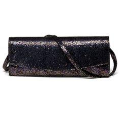 Stuart Weitzman Raz Womens Clutch Bag in Multi Iris Glitter