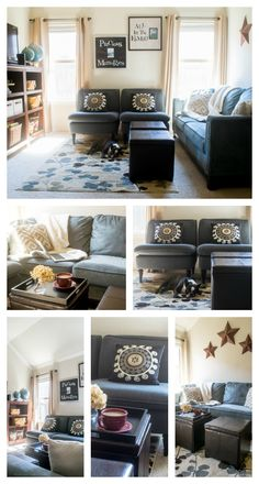 How to refresh a room simply by updating Home Decor. Learn how to remake a room with curtains, pillows, a rug, and more home decor products from Big Lots. A real life example of a playroom is featured.  #ICantEven #BigLots #CollectiveBias #ad