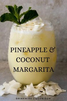 This Pineapple and Coconut Margarita is a unique twist on the classic Margarita. It's an easy to make cocktail that's perfect for any summer party. food and drinks If You Like Pina Coladas, You'll Love a Pineapple Coconut Margarita Easy To Make Cocktails, Fancy Drinks, Easy Summer Cocktails, Summer Drink Recipes, Refreshing Drinks, Yummy Drinks, Food And Drinks, Coconut Margarita, Pineapple Margarita