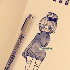 i love sketching with fineliner/ink pen TwT shaded with copics~ drawing on spare space on used pages of my sketchbook to save paper ; Manga Drawing, Manga Art, Anime Art, Copic Sketch, Anime Sketch, Kawaii Drawings, Cute Drawings, Character Art, Character Design