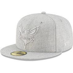 new arrival d9e1e a3ab5 Charlotte Hornets New Era Twisted Frame 59FIFTY Fitted Hat - Gray.  GorrasMiami HeatGrisEquipo Oklahoma City ThunderNbaProductos