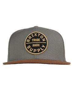 4e8cd6a79bb74 Brixton Clothing Oath III Snapback Hat - Charcoal Brown  27.00  brixton