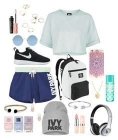 """Untitled #24"" by irie-aukett ❤ liked on Polyvore featuring Topshop, Ivy Park, NIKE, adidas Originals, Sunday Somewhere, Beats by Dr. Dre, Bling Jewelry, Sole Society, Finn and Benefit"
