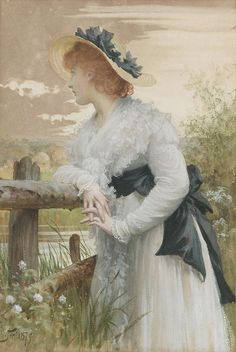 monsieurleprince:    Sir Samuel Luke Fildes (1844 - 1927) -Sophia, 1875