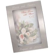 Personalized Silver Brushed Photo Album w/ Frame (Holds 100 Pictures)#Bridesmaidgift #weeding #gift #Photoalbum cheapgroomsmengifts.com