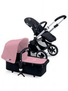 Bugaboo Buffalo - Aluminium Chassis - black/soft pink