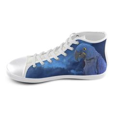 Hyacinth Macaw High Top Canvas Kid's Shoes