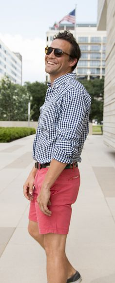 Navy & White Gingham Shirt | Criquet Shirts | Made in the USA  #fathersday