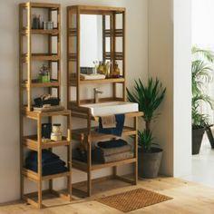 ensemble de meubles de salle de bains en bambou naturel danong les miroirs de salle de bains. Black Bedroom Furniture Sets. Home Design Ideas