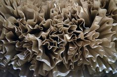 coffee filter wreath detail