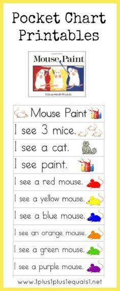 Mouse Paint Pocket Chart Printables Love it!!!!!!