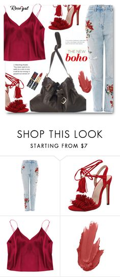 """""""The new Boho"""" by edy321 ❤ liked on Polyvore featuring Topshop and Maybelline"""