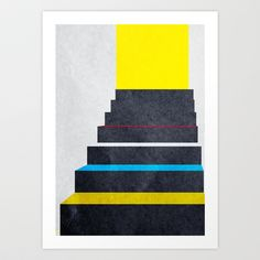 Stairs 02. Art Print by Three Of The Possessed - $12.48